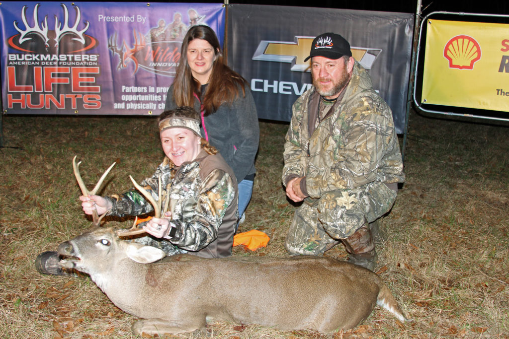 e59ad3d3662 ... and Buckmasters CEO Jackie Bushman celebrate a successful hunt during  the Buckmasters Life Hunt Classic at Sedgefields Plantation in Dallas County .