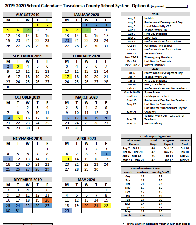 Montgomery County School Calendar 2019 20.School Supply Lists